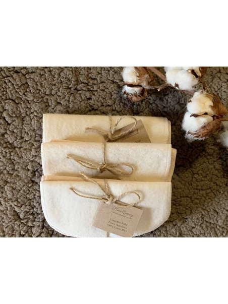 Pack de lingettes en coton Bio