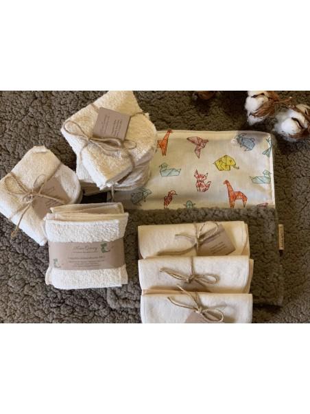 Pack de lingettes en coton Bio + Pochette offerte